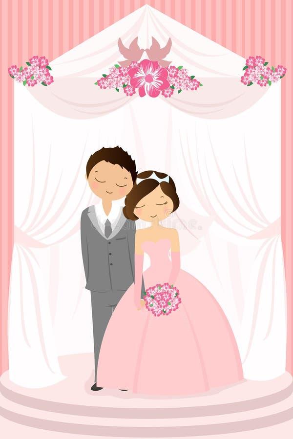 berömbröllop royaltyfri illustrationer