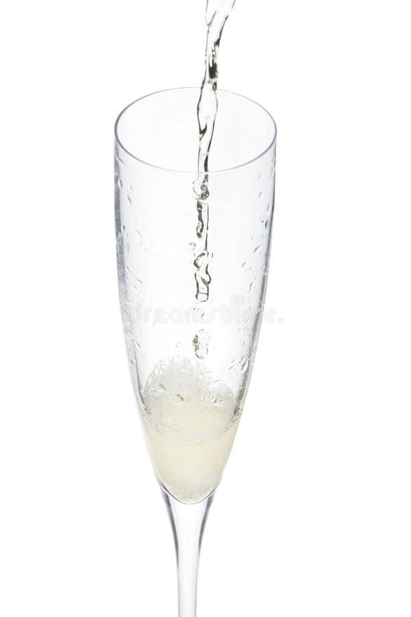 berömchampagneexponeringsglas arkivfoto