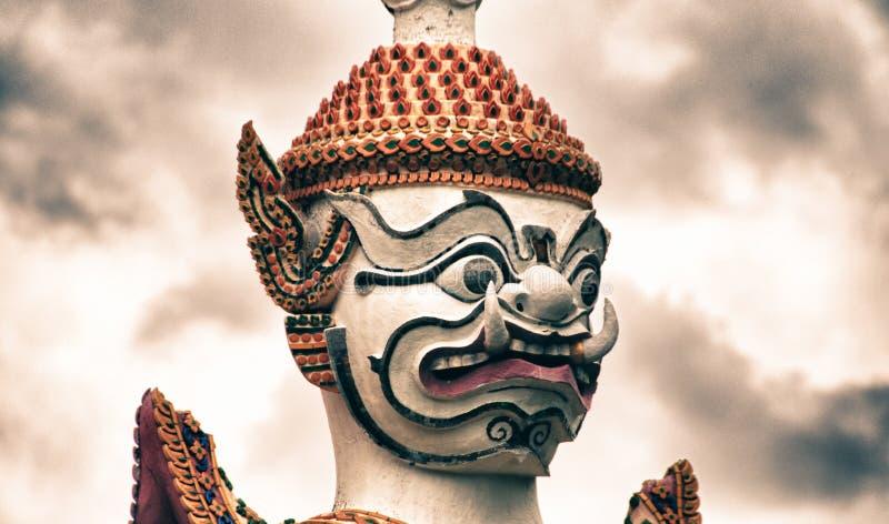Berömd Bangkok tempel, Achitectural detalj arkivfoton