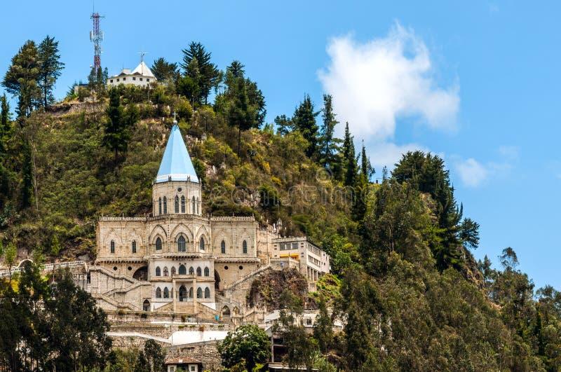 Berömd Biblians Santuario de la Virgen del Rocio, Ecuador arkivbilder