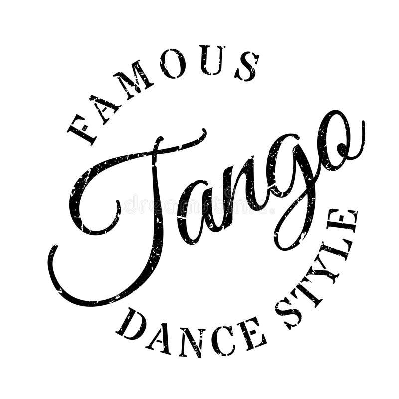 Berömd dansstil, tangostämpel royaltyfri illustrationer