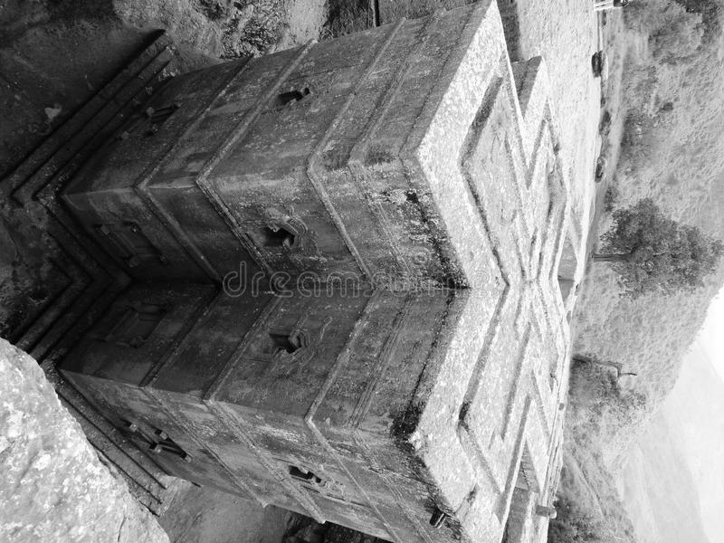 Berömd härlig etiopierkyrka arkivfoton