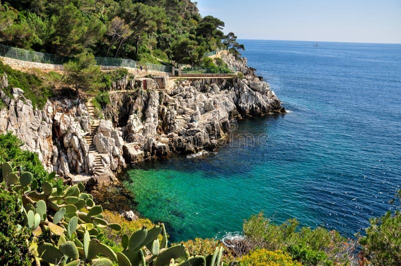 Berömd Helgon-Jean-lock-Ferrat fjärd på franska Riviera Provence-Alpes-Côte D 'Azur avdelning i sydöstliga Frankrike Privat litet fotografering för bildbyråer