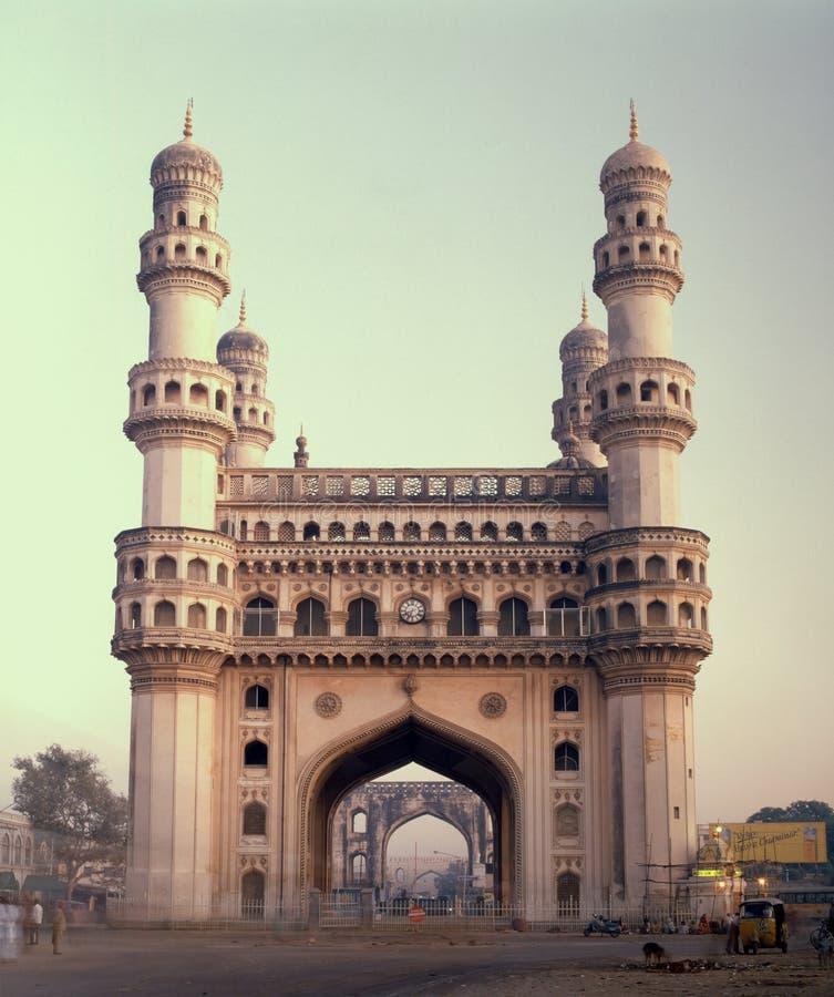 Berömd Hyderabad gränsmärke Charminar Indien royaltyfri fotografi