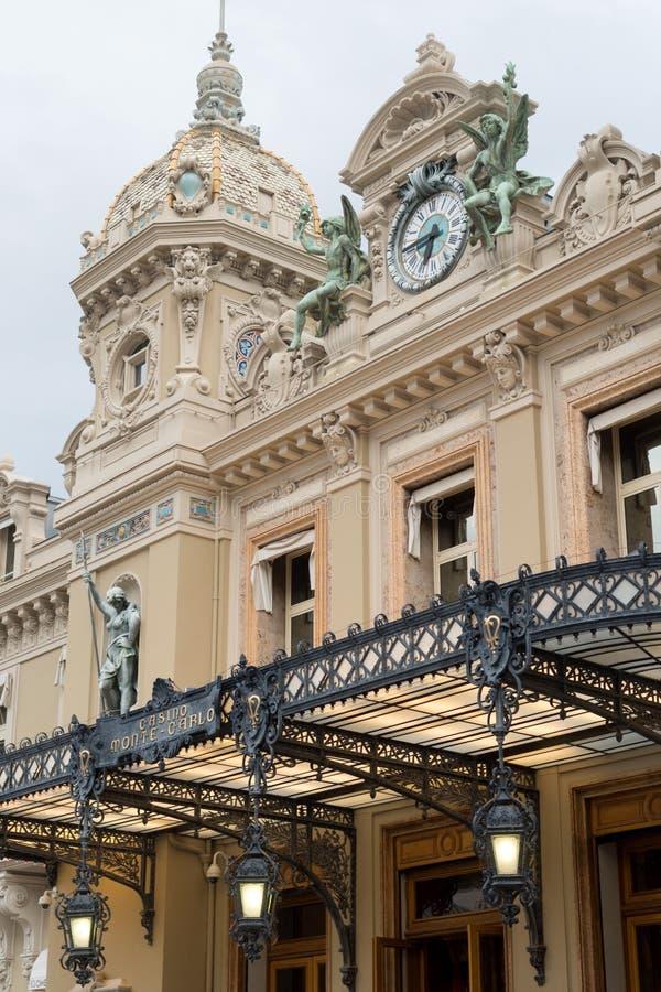 Berömd kasino i Monte - carlo royaltyfri bild