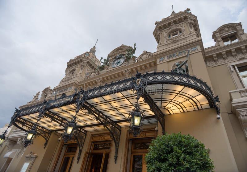 Berömd kasino i Monte - carlo arkivbild