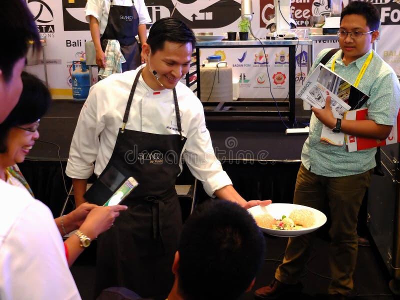 Berömd kock Mandif Warokka royaltyfria bilder