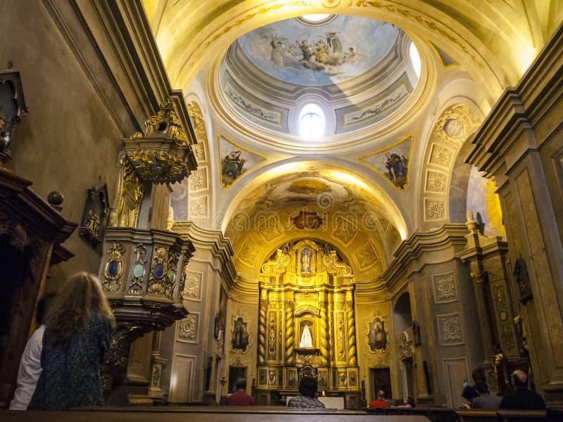 Berömd kyrka av beskickningen Estancia Jesuitica i Altagracia som är argent fotografering för bildbyråer
