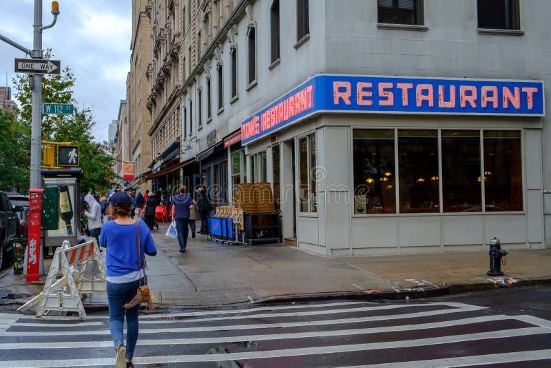 Berömd matställe i Manhattan royaltyfri foto