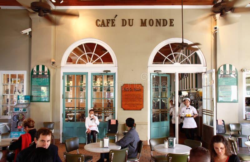 berömd monde New Orleans för cafedu arkivbilder