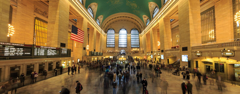 Berömd New York City gränsmärkeGrand Central station (har mer th royaltyfri bild