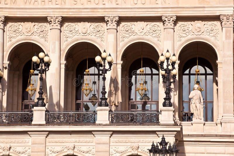 Berömd operahus i Frankfurt royaltyfri fotografi