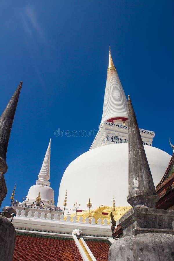 Berömd pagod i den Wat phraen Mahathat, Nakon si Thammarat arkivbilder