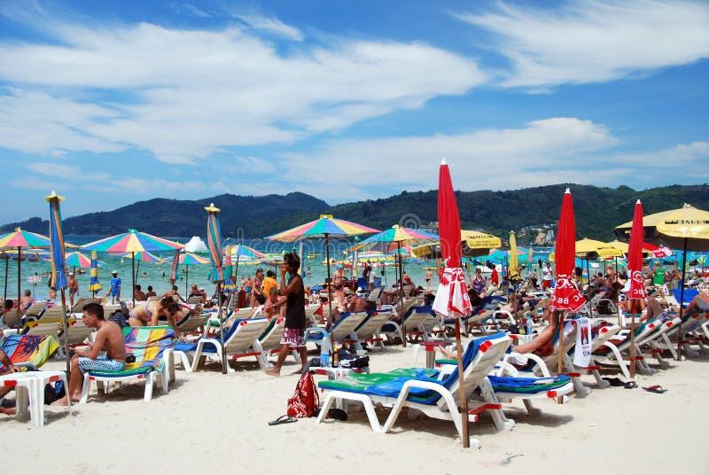 berömd patong thailand för strand royaltyfria foton