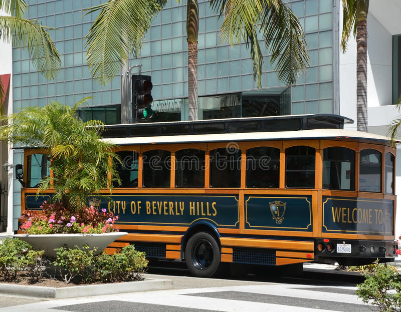 Berömd rodeodrevgata i Beverly Hills royaltyfria foton