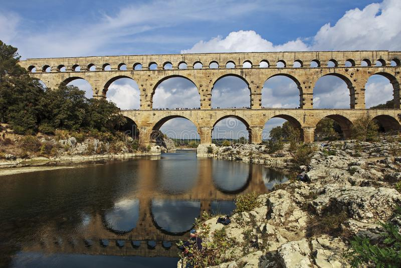Berömd roman bro arkivbild