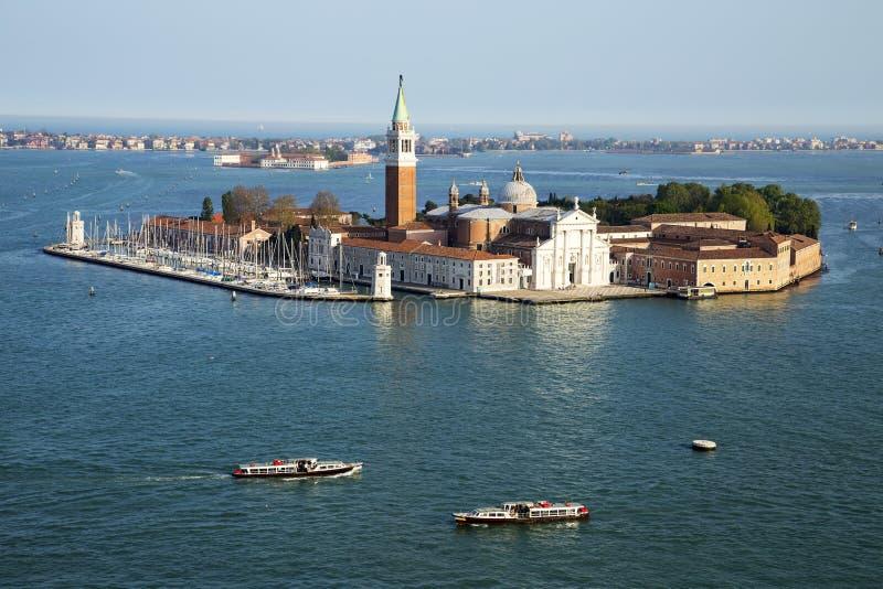 Berömd San Giorgio Maggiore ö och kyrka nära San Marco, Venedig royaltyfri bild