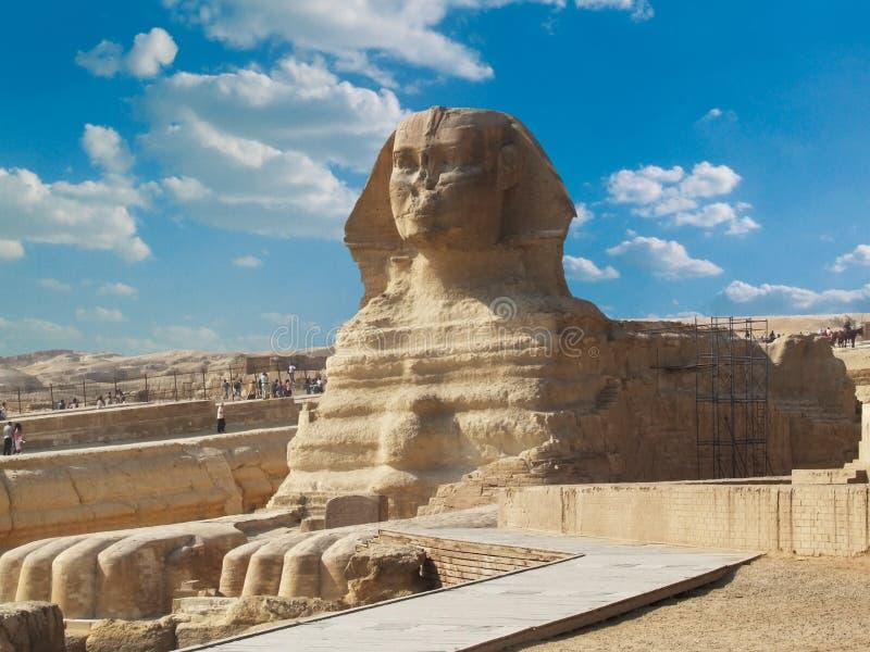 Berömd sphinx arkivbilder