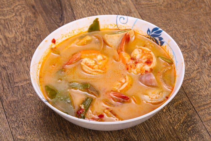 Berömd thailändsk Tom Yam soppa arkivbilder