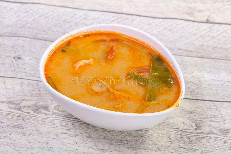 Berömd thailändsk Tom Yam soppa arkivfoto