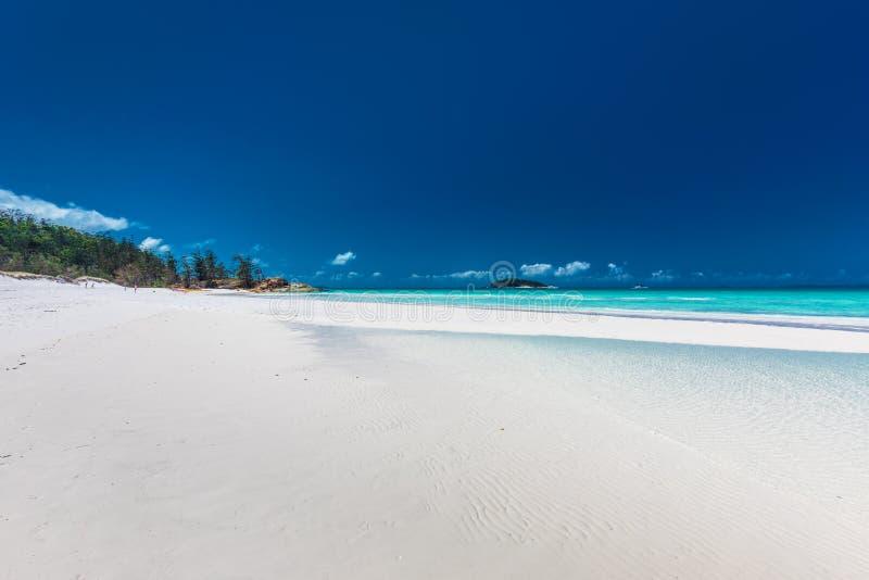 Berömd Whitehaven strand i pingstdagöarna, Queensland, A royaltyfria bilder