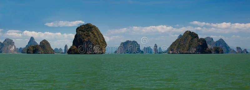 berömda öar thailand arkivbild