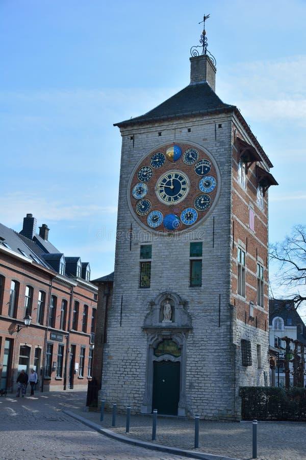 Berömda gränsmärken Belgien: Zimmer torn royaltyfri fotografi