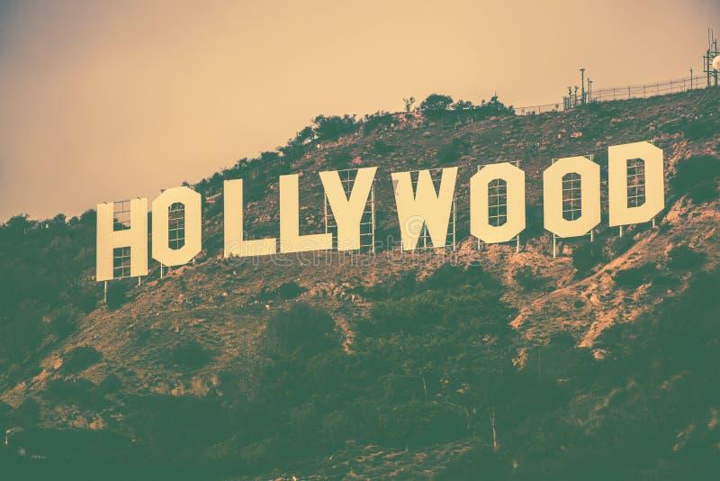 Berömda Hollywood Hills arkivbild