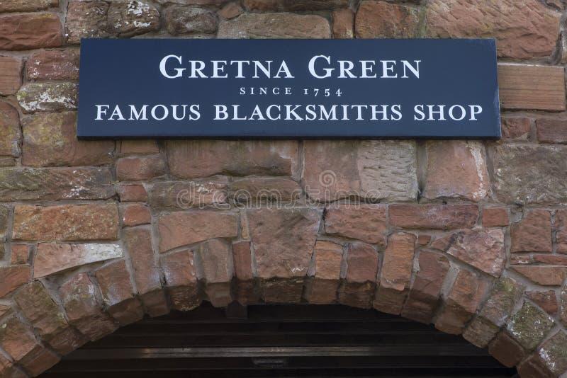 Berömda hovslagare shoppar på Gretna gräsplan arkivfoto