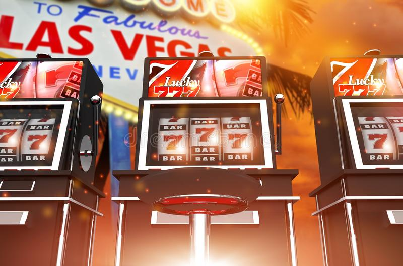 Berömda Las Vegas springalekar arkivbild