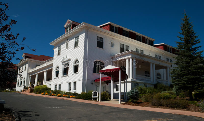 Berömda Stanley Hotel i Estes Park, Colorado royaltyfria bilder