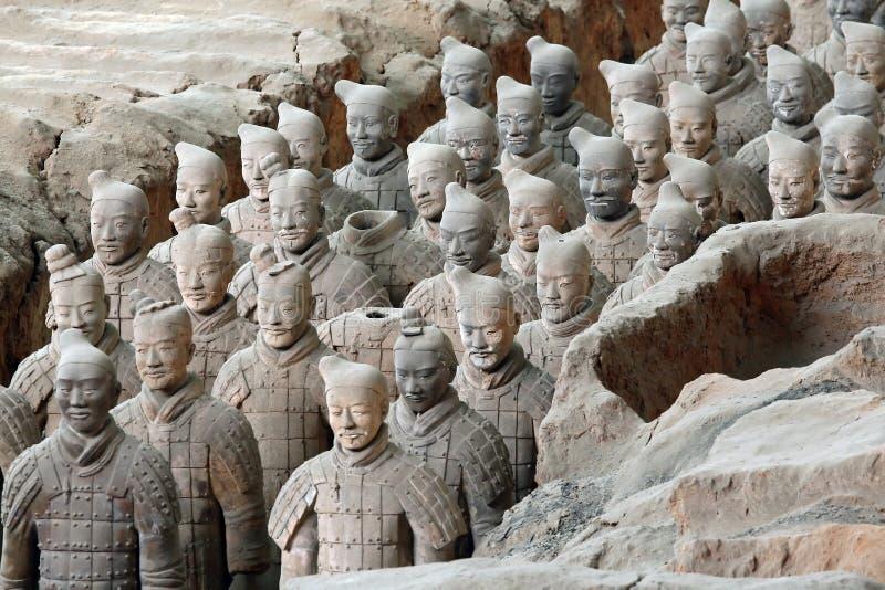 berömda terrakottakrigare xian för porslin arkivbilder