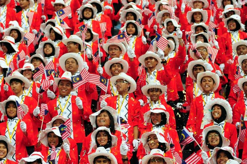 berömdagindependent malaysia arkivbild