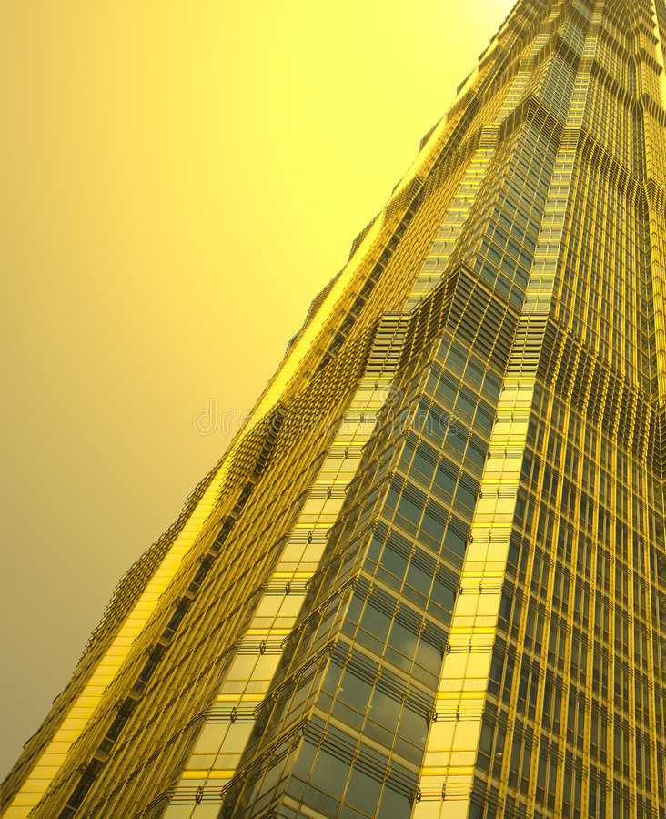 berömdt jin mao shanghai för byggnader torn royaltyfria foton