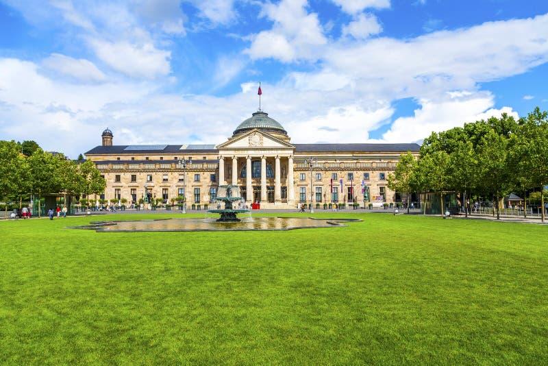 Berömdt kasino i Wiesbaden arkivfoton