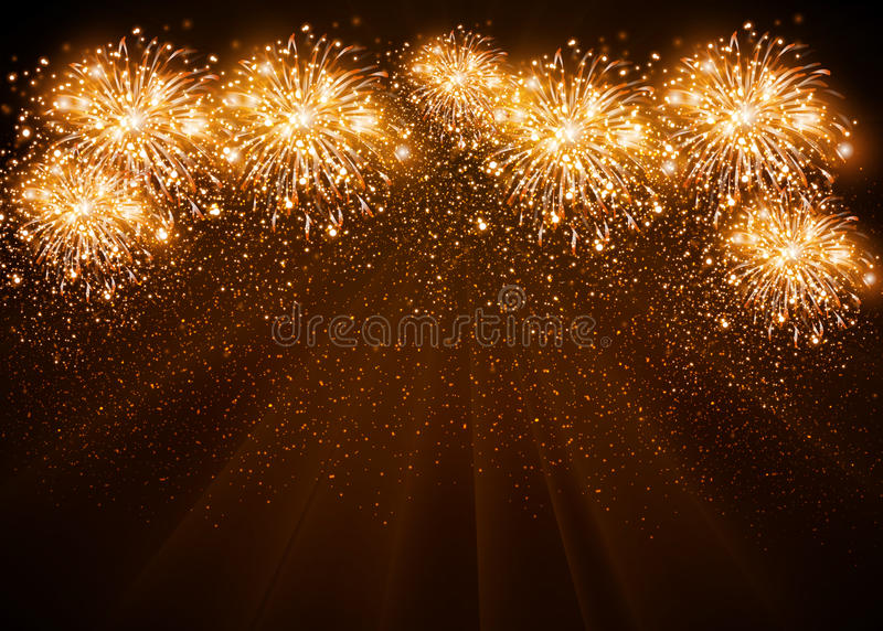 Berömmall för lyckligt nytt år stock illustrationer