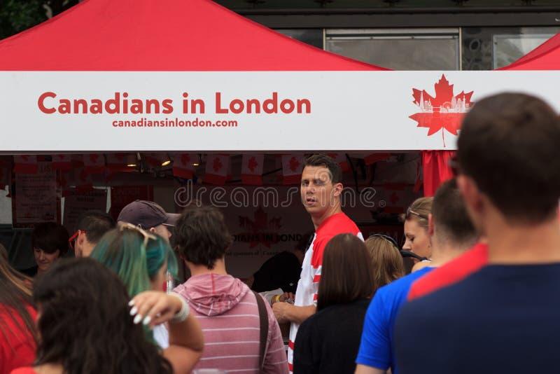 Berömmar för Kanada dag 2017 i London arkivbild
