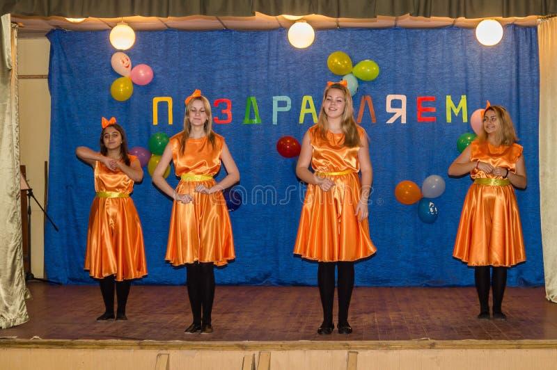 Berömmen av moders dag i den Kaluga regionen (Ryssland) 29 November 2015 arkivfoto