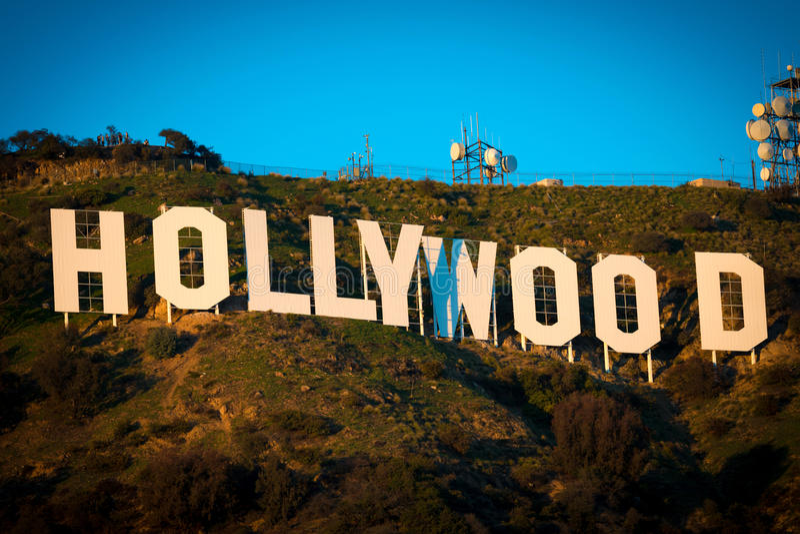 Berömt Hollywood tecken royaltyfri fotografi