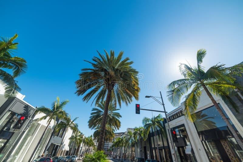 Berömt rodeodrev för värld i Beverly Hills royaltyfri foto