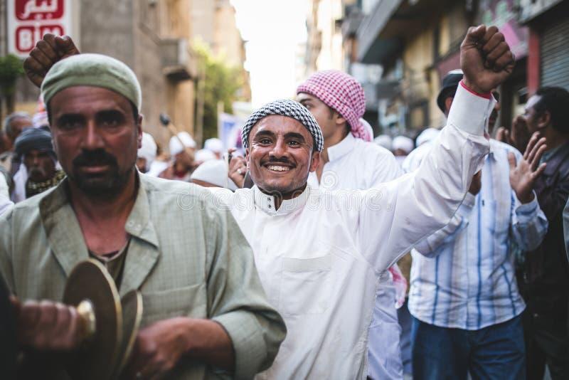 Berömväg Rifai Sufi Egypten arkivbild