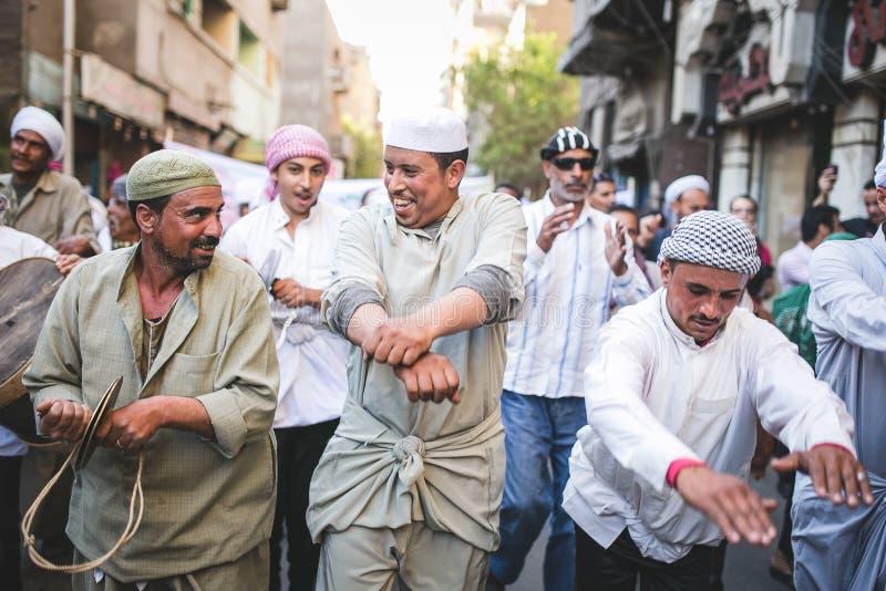 Berömväg Rifai Sufi Egypten arkivfoto