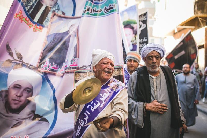 Berömväg Rifai Sufi Egypten royaltyfri foto