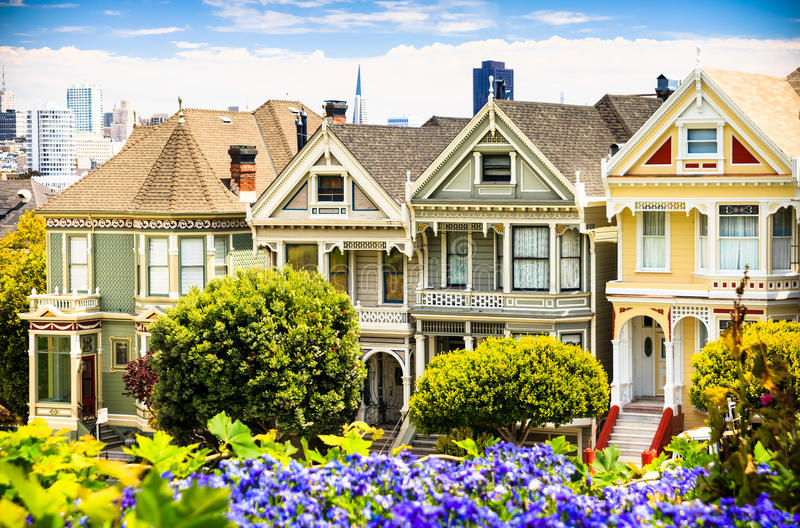 Berühmte Ansicht in San Francisco stockbild
