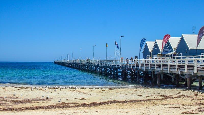 Berühmte Busselton-Anlegestelle in Busselton, West-Australien lizenzfreies stockbild