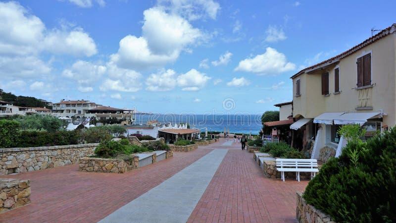 Berühmte Costa Smeralda, Sardinien lizenzfreies stockfoto