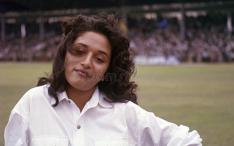 Berühmte Hindi-Filmschauspielerin Madhuri Dixit lizenzfreies stockfoto