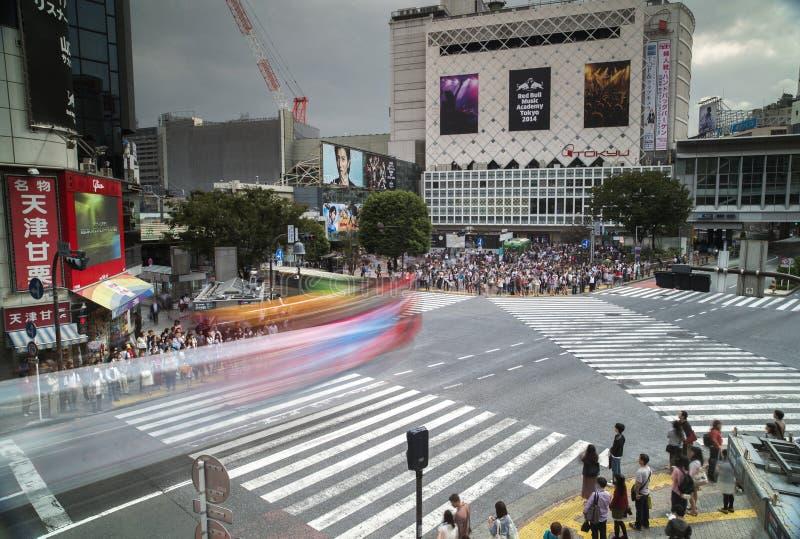 Berühmte Jagdüberfahrt in Tokyo stockbild