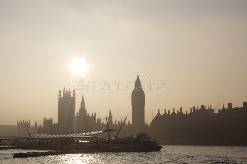 Berühmte London-Skyline stockfoto