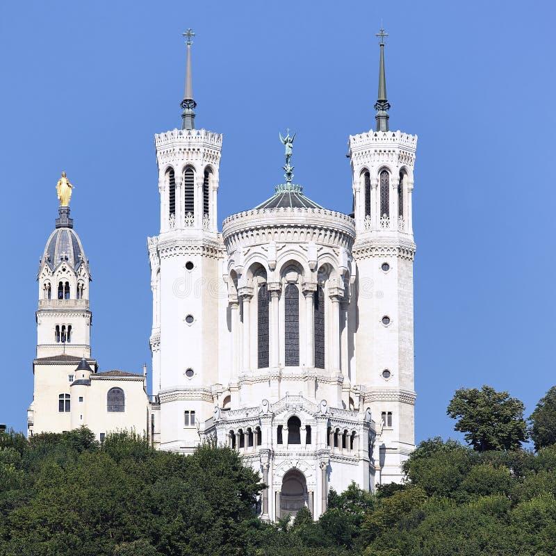 Berühmte Lyon-Basilika stockfotos